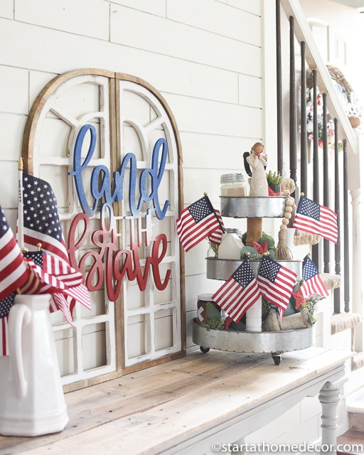 Land of the brave - patriotic decor