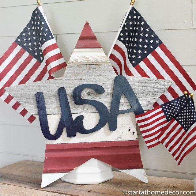 4th of July decor - reclaimed wood star