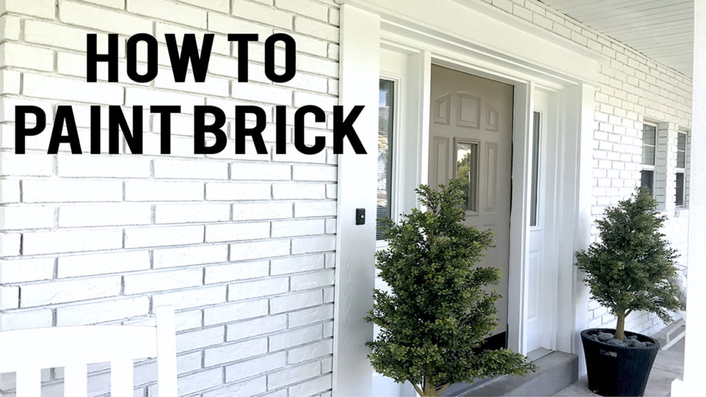 Painting a house - how to paint brick