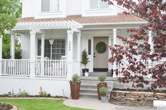 Makeover: Exterior House - White Exterior