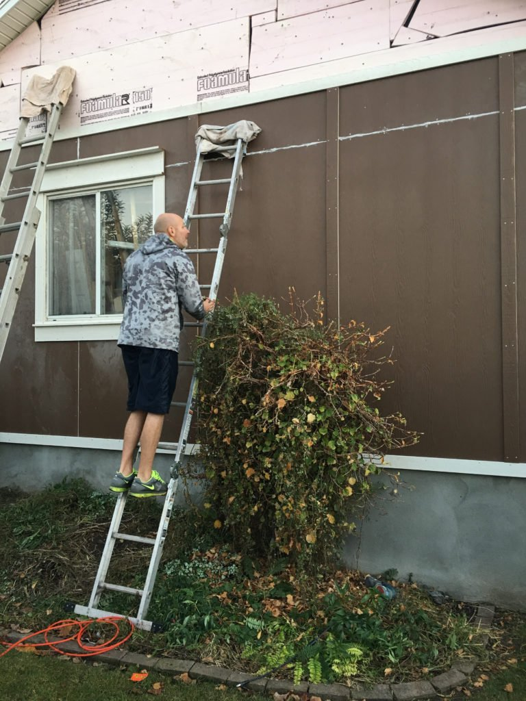 Painting a house-prep work