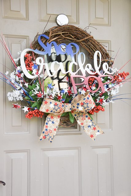 Dollar store 4th of July wreath