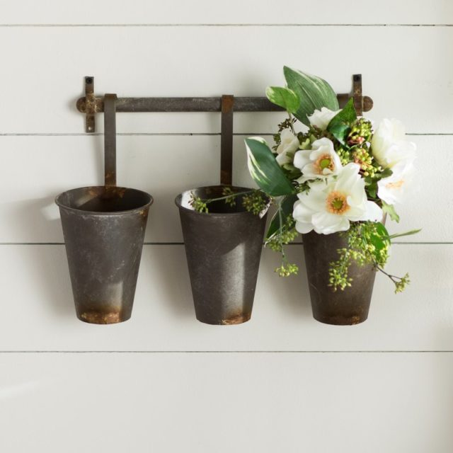 Flower pot wall hangers
