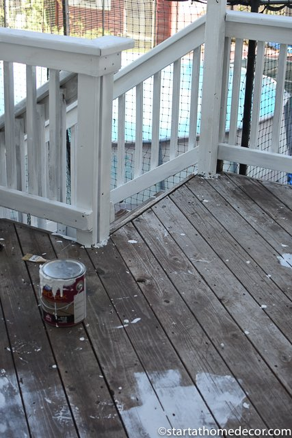 Painting a Deck and Pergola