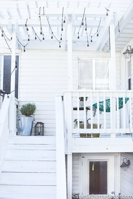 DIY-Painting a Deck white