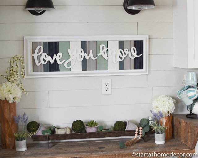 Love You More reclaimed frame by Start at Home