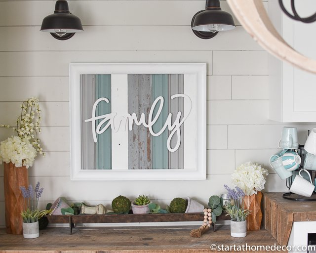 Farmhouse decor- family reclaimed wood frame