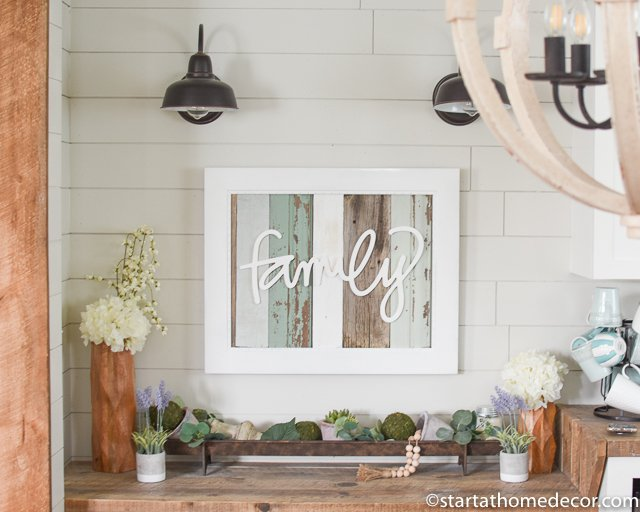 Family reclaimed wood sign by Start at Home