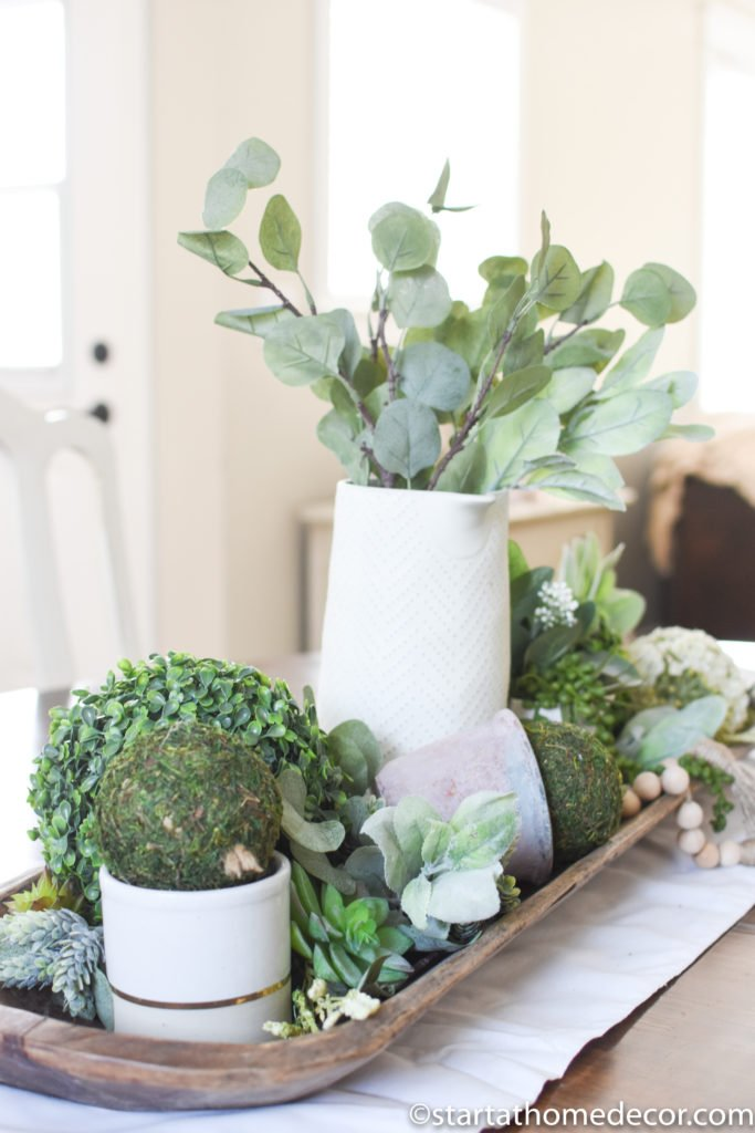 decorating with faux plants from Amazon