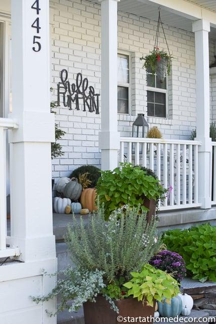 Create a pumpkin fall porch