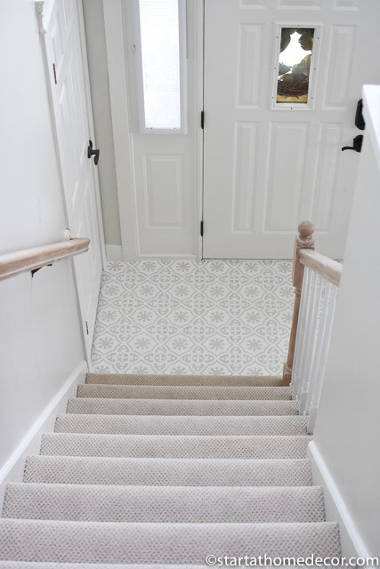 Stenciled floor Entry