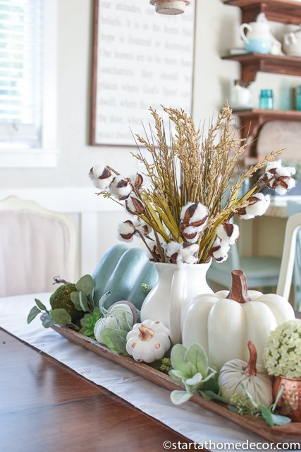 Pumpkins and Fall centerpiece
