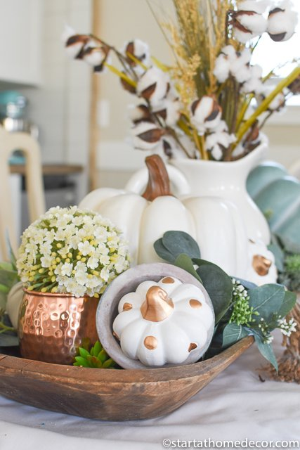 Teal fall decor centerpiece