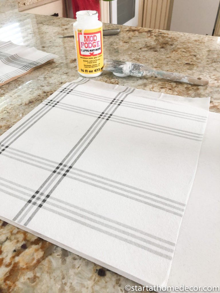 DIY Plaid Signs with Magnolia's Hearth and Hand Napkins