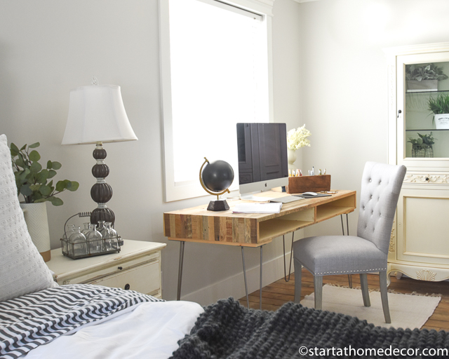 Updated master bedroom - Master bedroom renovation - Farmhouse style master bedroom