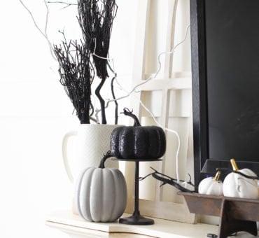 Simple Black and White Halloween Decor