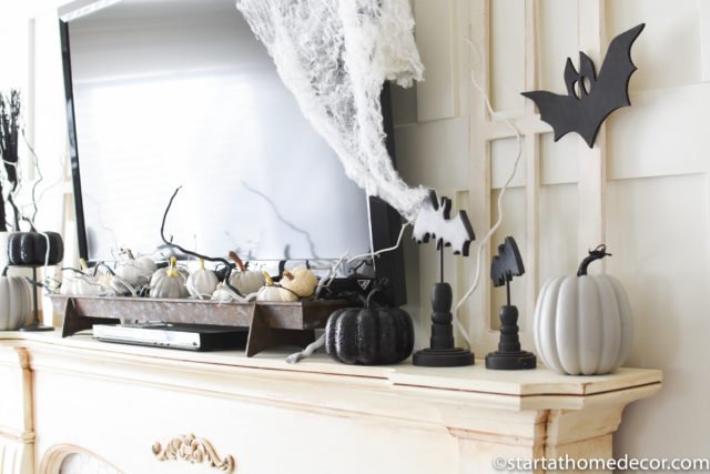 Simple Black and white Halloween decor