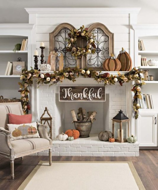 How to Create Fall Mantels