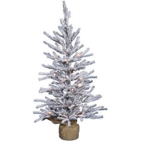 Small faux Christmas trees