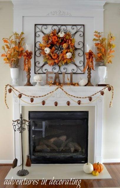 Seasonal fall mantel