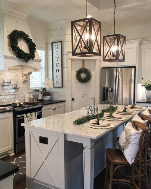 Farmhouse Kitchen and Island