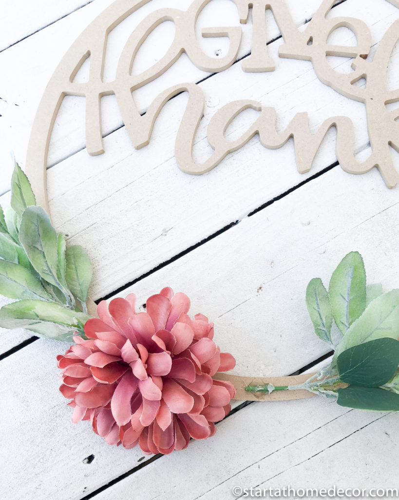 DIY Floral Hoop Wreath