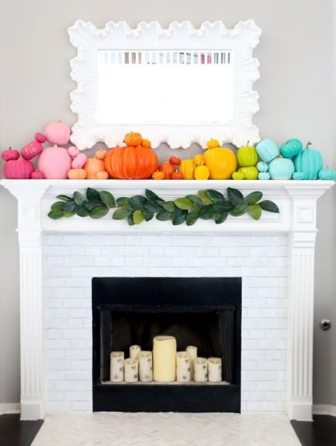 Color Fall Mantel