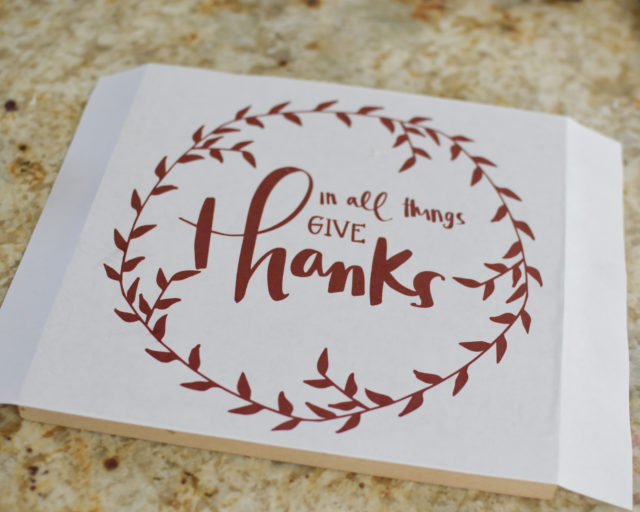 In all things give thanks - DIY sign