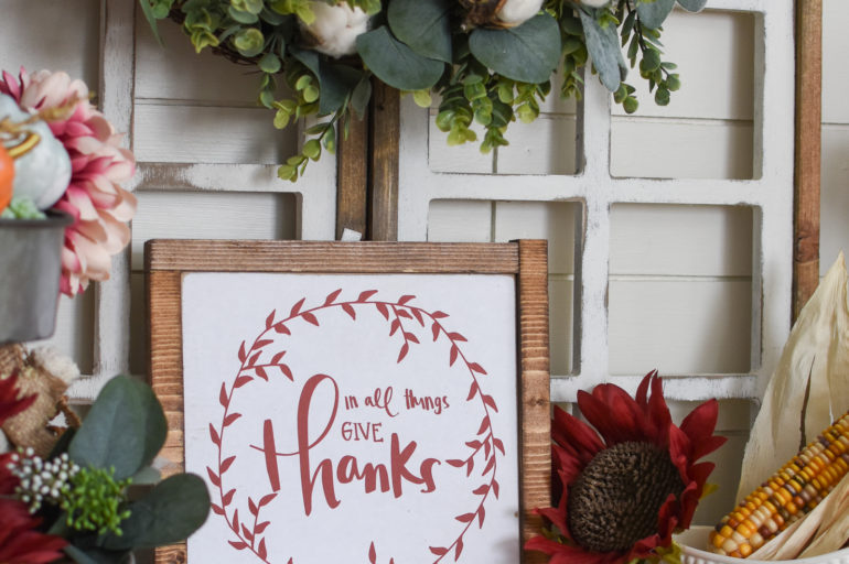 DIY Fall Sign with Our Free Printable