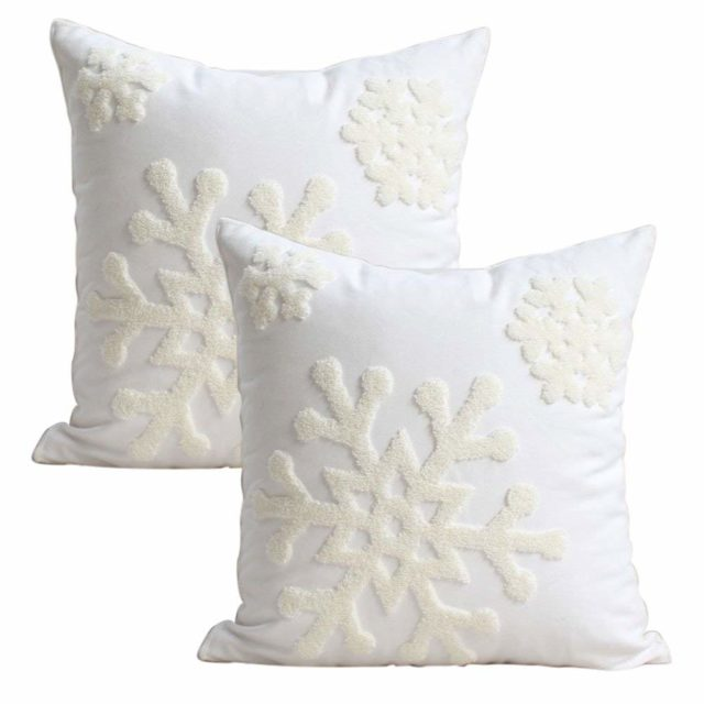 winter decor pillows