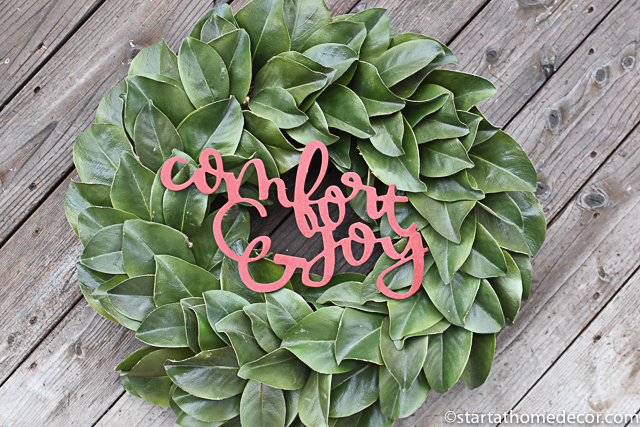 Christmas wreath - Comfort and Joy