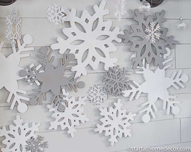 Christmas cutouts - layered snowflakes