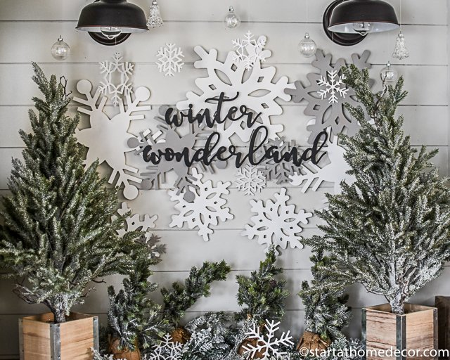 Christmas cutouts - snowflakes and winter wonderland