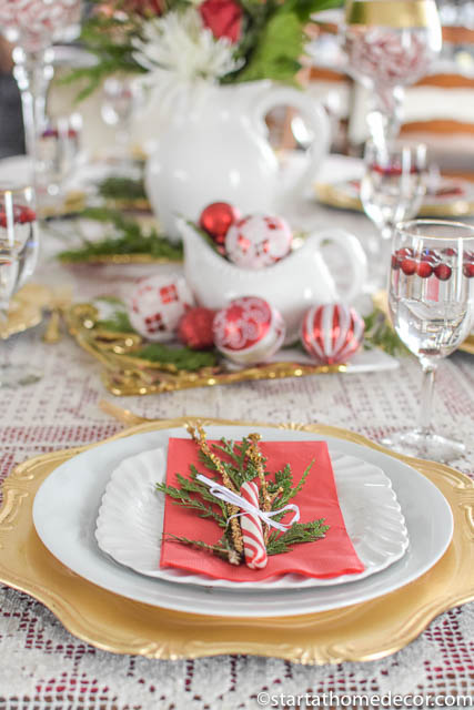 Budget friendly christmas tablescapes
