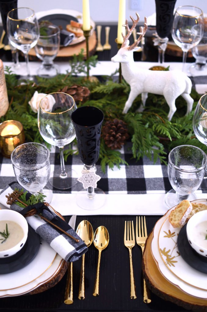 Buffalo Check Christmas table