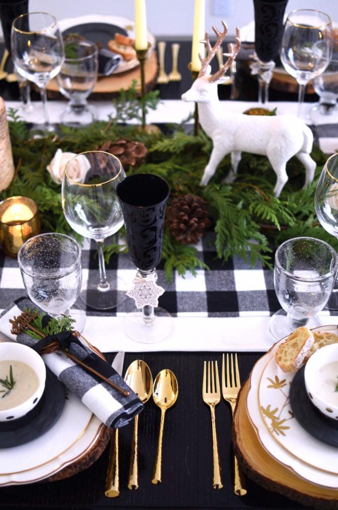 Buffalo Check Christmas table