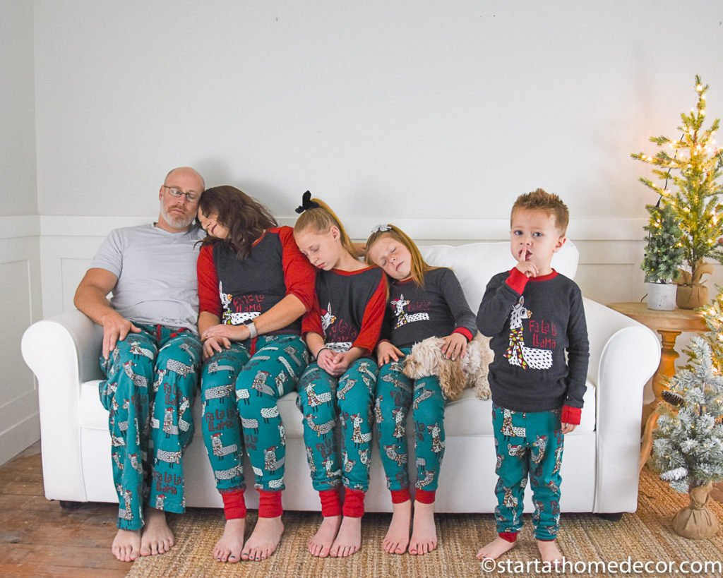 Matching Family Christmas Pj's with LazyOne
