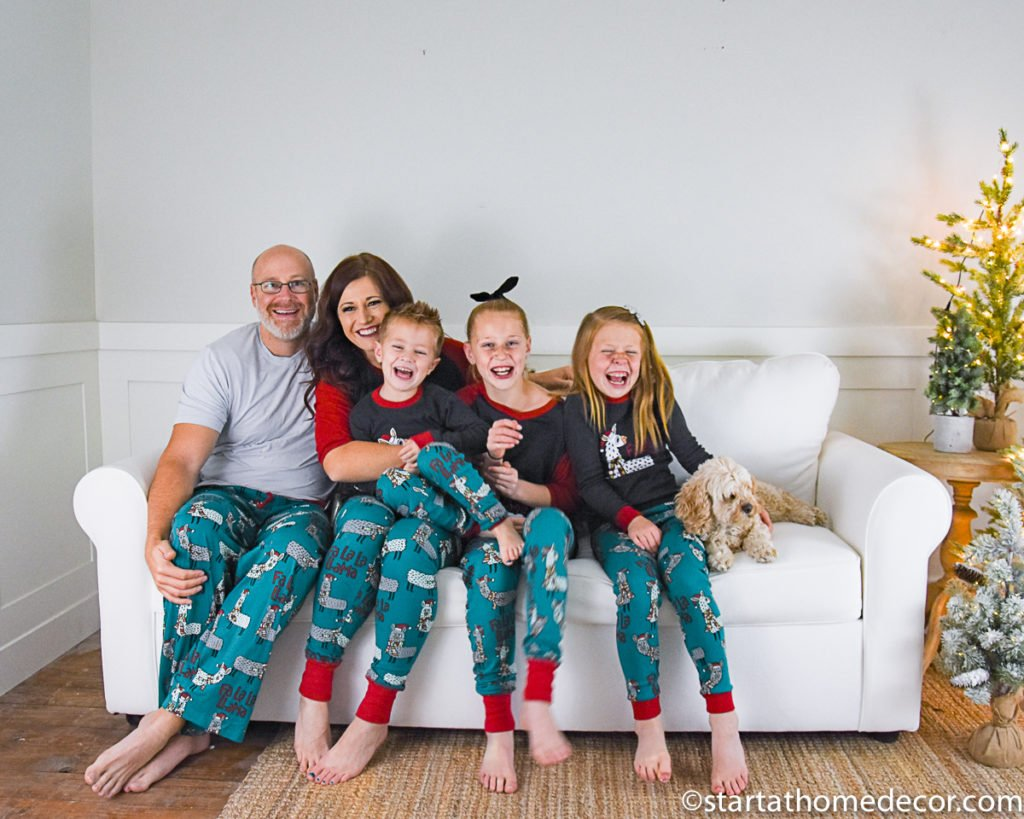 Matching Christmas Family Pj's with LazyOne