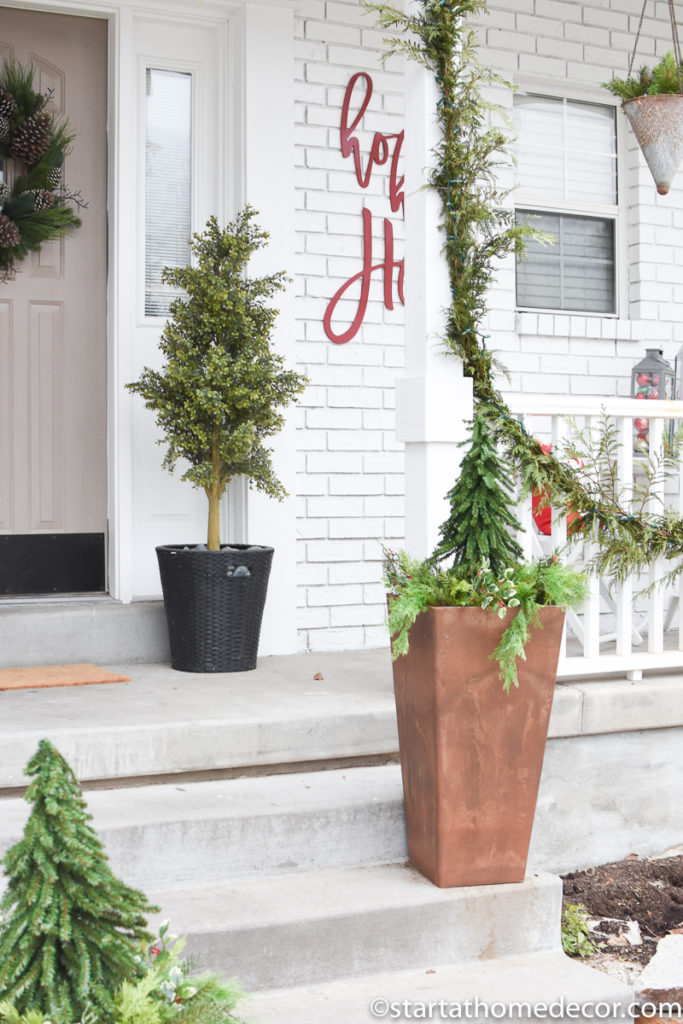 Adding Christmas to my front porch