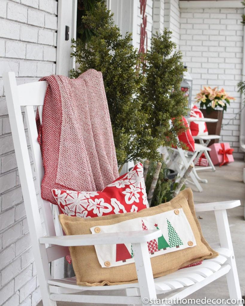 Christmas throws and pillows