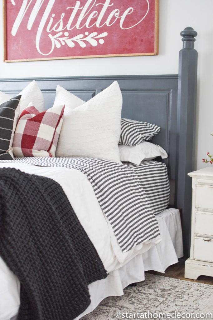 Christmas bedding and decor