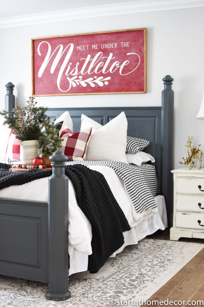 Holiday decorating for master bedroom