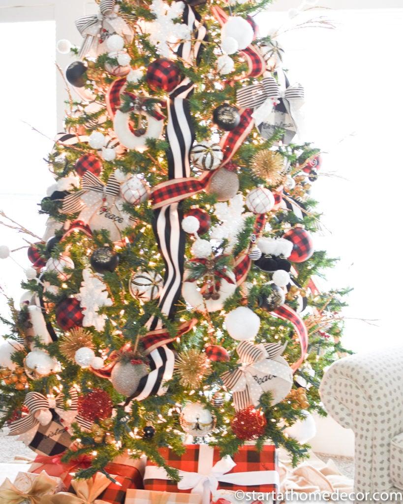 Buffalo Check Christmas Tree Start At Home Decor