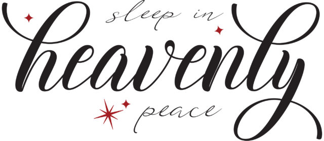 Sleep in heavenly peace printable