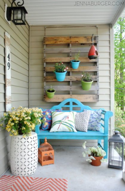 Colorful spring porch decor | spring porch ideas