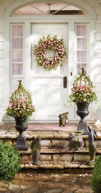 Spring porch decorating