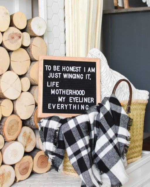 Felt letter board sayings