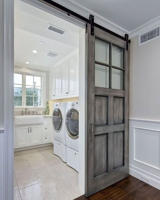 Barn door on my laundry room