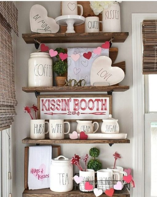 Valentine's Day Shelves