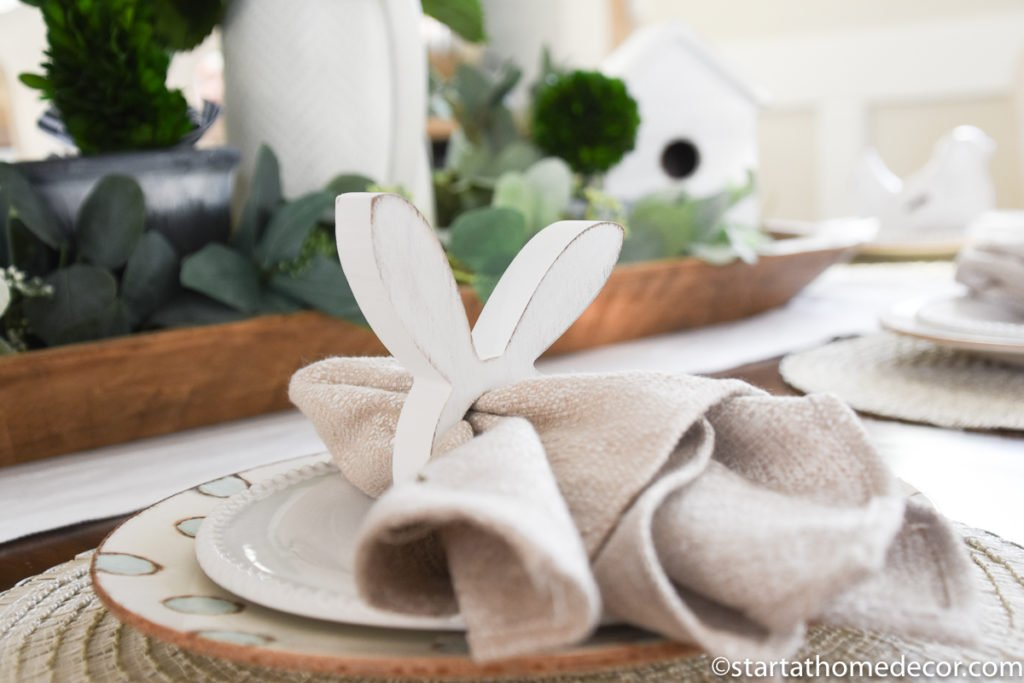 Easter napkins for Easter Tablescape | Bunny Napkins | Table Settings